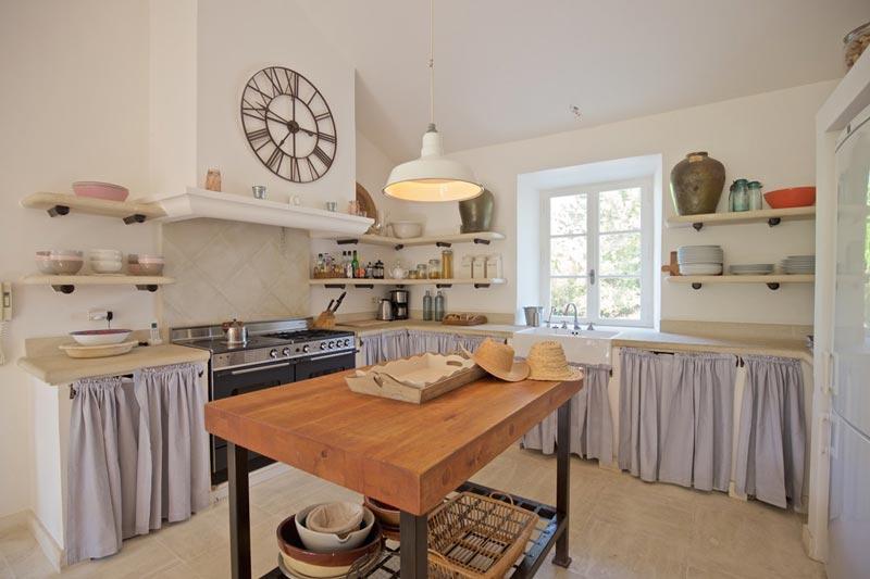 cucina country casa di campagna