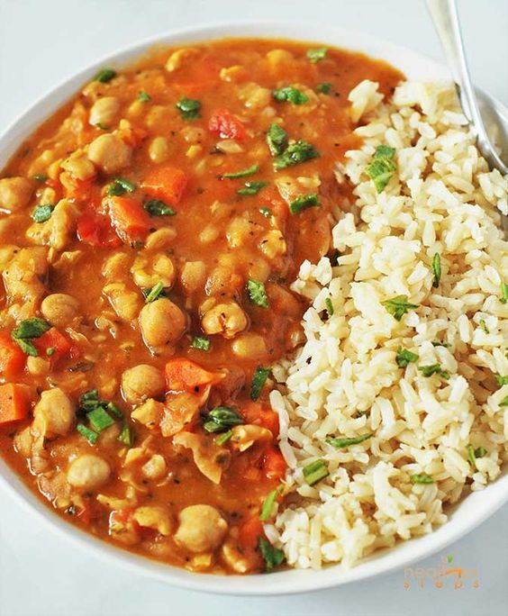 Here is the best comforting and hearty Chickpea Stew (Vegan, Gluten-free) ever! Made with simple ingredients from basic ingredients with an amazingly delicious taste that will keep you coming back for more! It tastes delicious with rice. While we are on the subject of comforting and hearty stews, check out my Black Bean and Butternut Squash Stew which is also a huge hit! I have been so busy lately, it's been a roller coaster ride since our move to Ohio. So many wonderful things are happening to our family and we feel so grateful for the abundance of blessings that are coming
