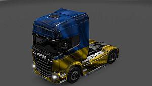Ukraine Flag skin for Scania Streamline