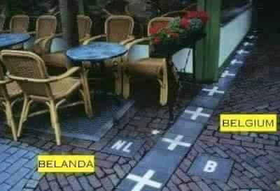 Belanda & Belgium World's Amazing Border Lines