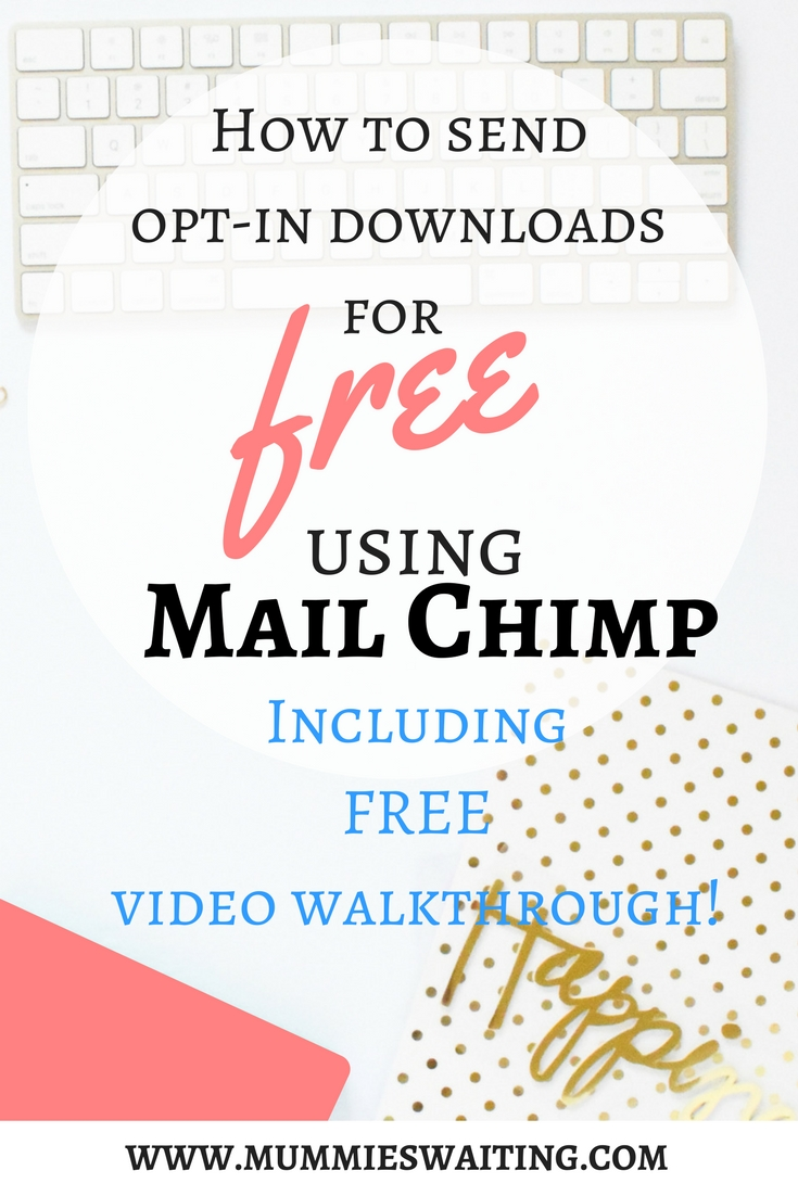 A quick and easy way to send opt-ins to your mailing list for FREE using Mail Chimp. Including FREE Video Walkthough