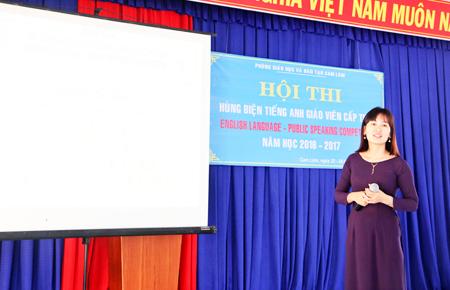 Cuộc thi hùng biện tiếng Anh cấp THCS huyện Cam Lâm