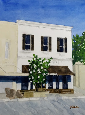 Watercolor - Georgetown Square - Quenans - John Keese