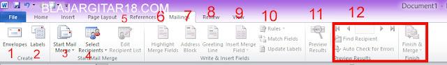 Fungsi Toolbar maillings pada microsoft word