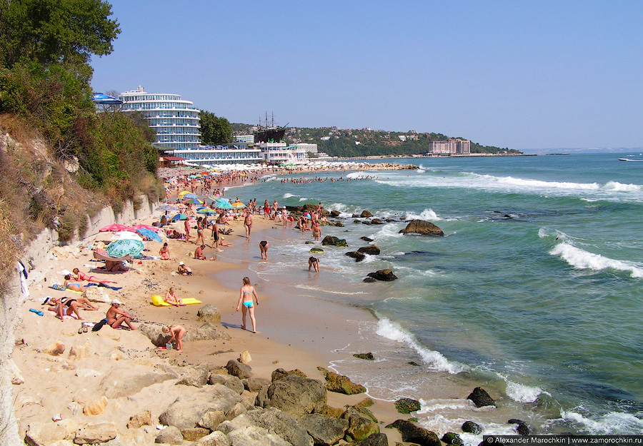 Пляжи в Св. св. Константин и Елена, Болгария
