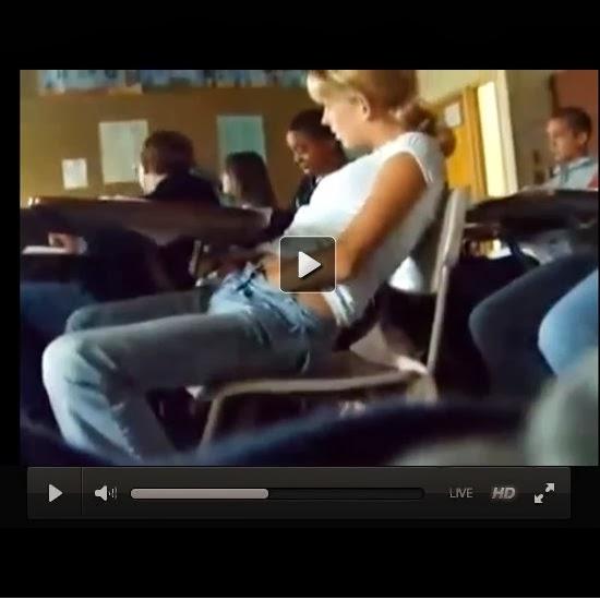 Girl masturbating in class