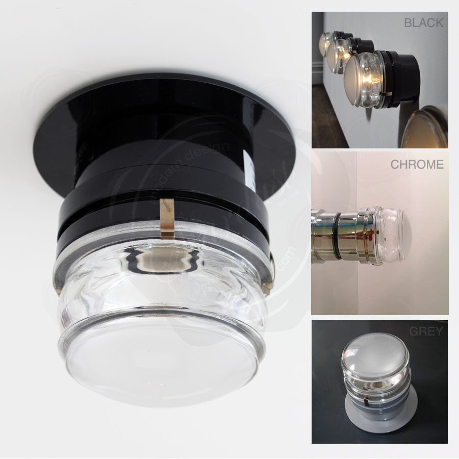 Bathroom Light Fixtures Damp Location Modern Fresnel-lens Oluce Joe Colombo Lamp | Wall Lighting