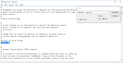Langkah Cara Merubah Port Delault Apache Server pada XAMPP 3