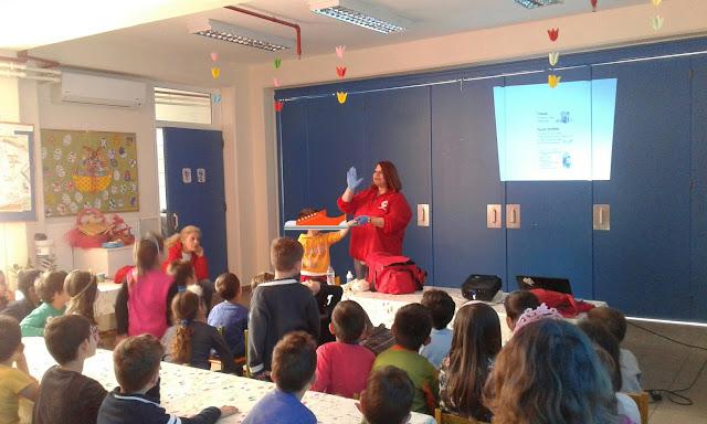 Πρώτες βοήθειες βιωματικού χαρακτήρα από τον Ερυθρό Σταυρό στο 10ο Ολοήμερο Νηπιαγωγείο Άργους