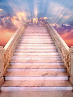 a stair case to heavenly kingdom