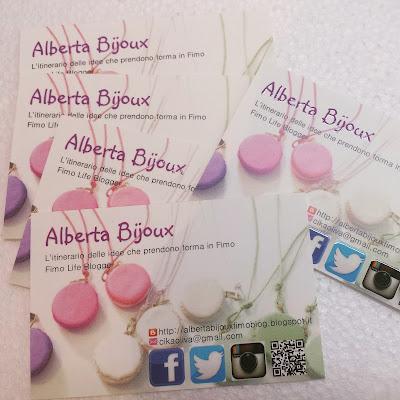 biglietti da visita Alberta Bijoux Vistaprint Fimo Life Blogger