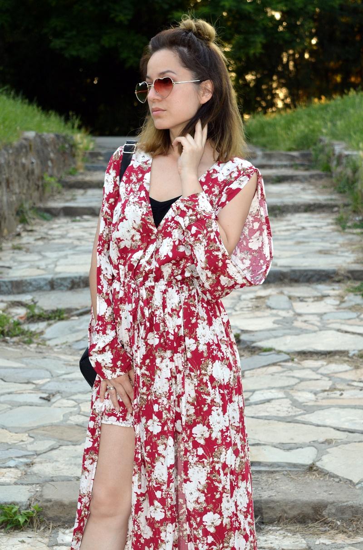 floral maxi romper jumpsuit