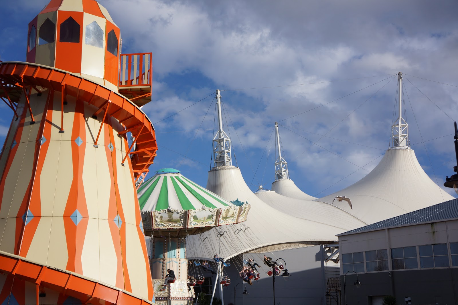 helter skelter in sunshine at butlins minehead