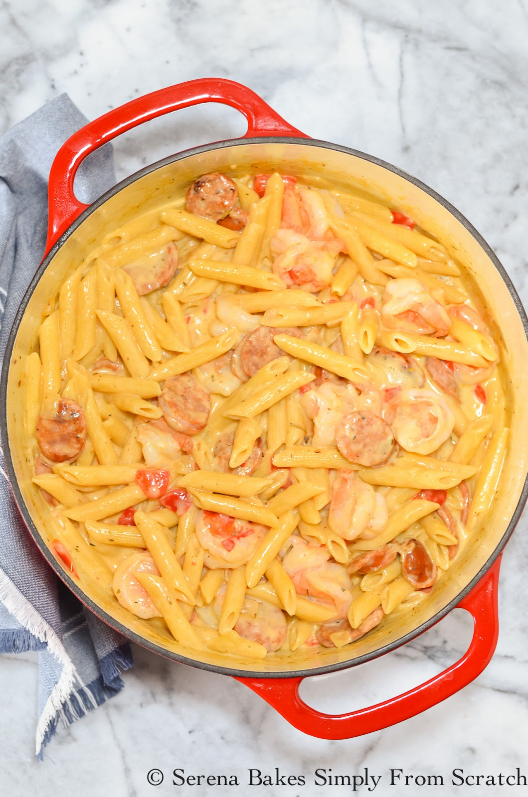 Cajun Pasta Shrimp Skillet