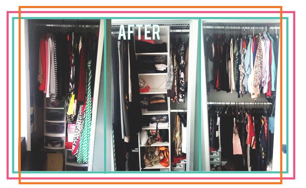 after clean closet