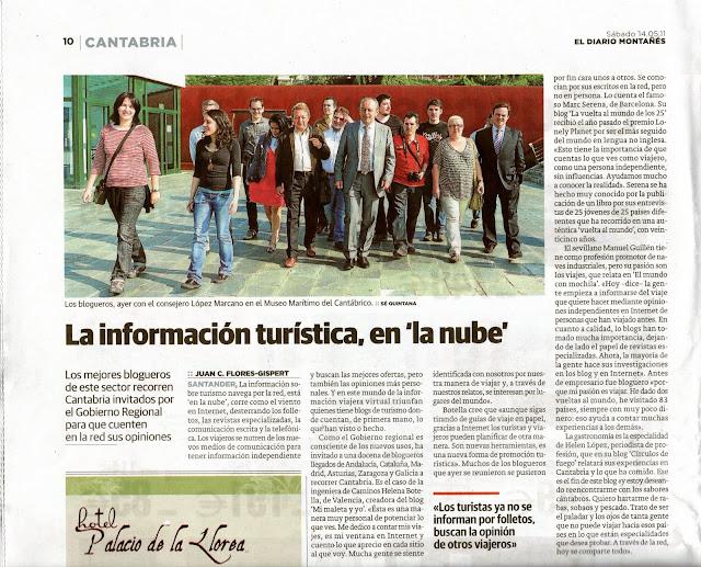 Blogueros en el periódico de Cantabria