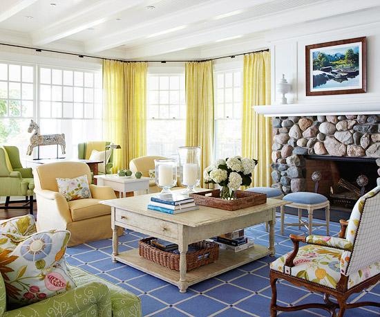 Modern Furniture: 2013 Cottage Living Room Decorating Ideas