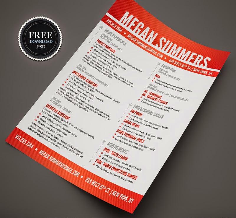 49 free professional cv    resume templates psd mockup