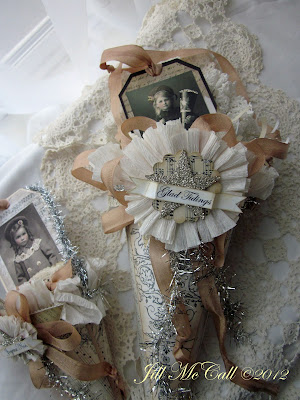 Victorian Christmas Paper Cones~ Jill McCall 2012 Feathers & Flight