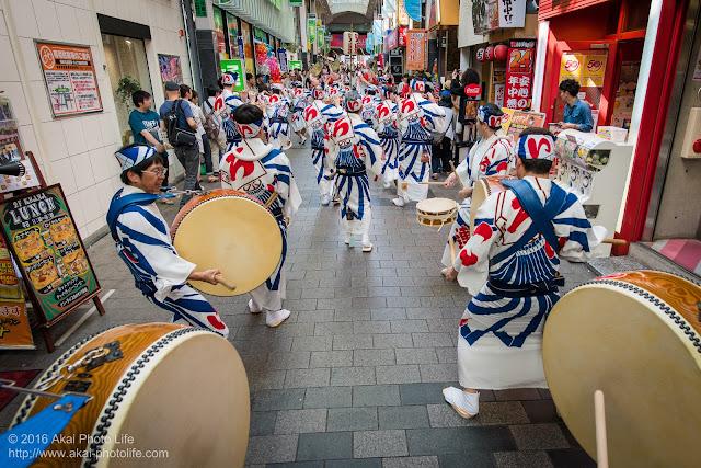 高円寺パル商店街、いろは連の鳴り物の写真 2