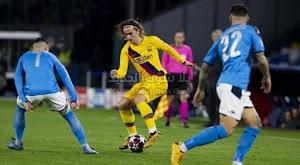 التعادل يحسم لقاء نابولي وبرشلونة في ذهاب دور ال 16 من دوري أبطال أوروبا