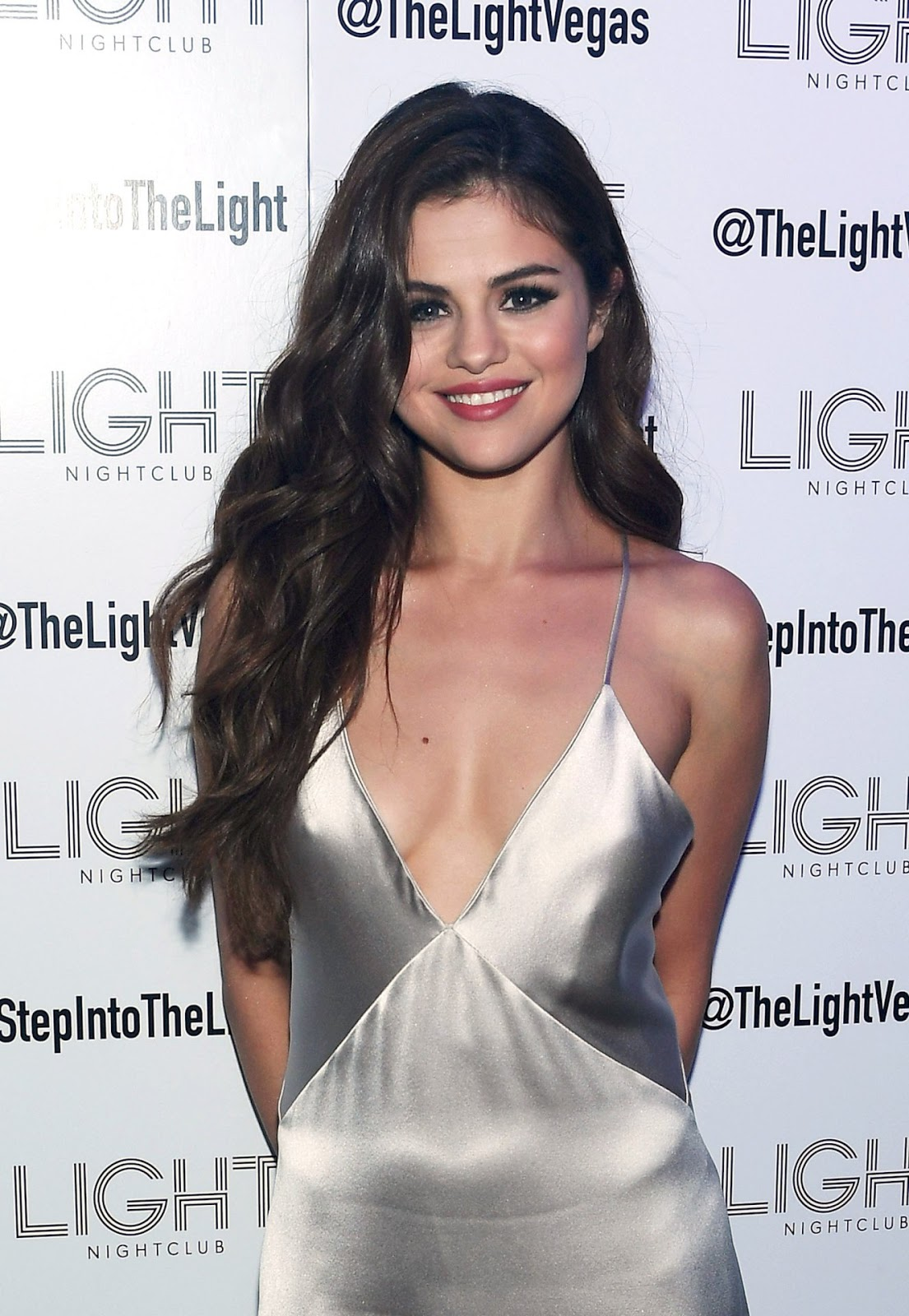Selena Gomez goes braless for Revival Tour After Party