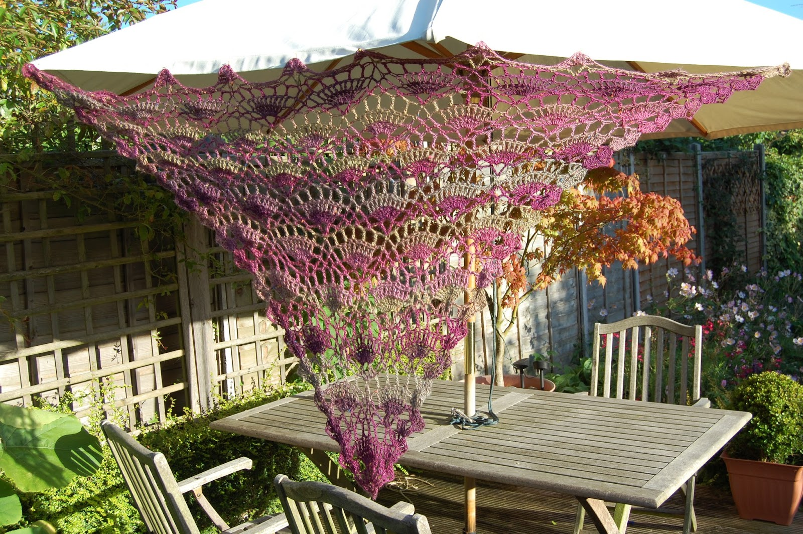 CRAFTY RED: Crochet Festival Shawl