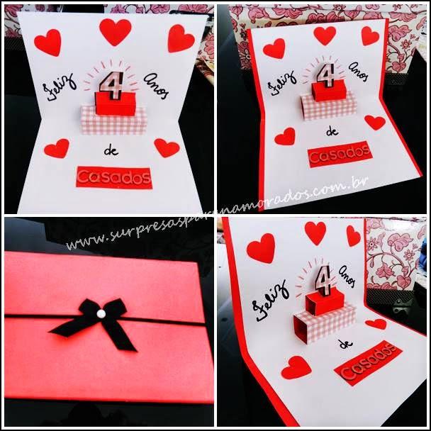 cartão 3D para namorado