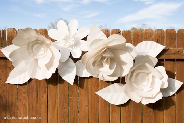 Crea flores de papel gigantes para decorar vuestros espacios de boda