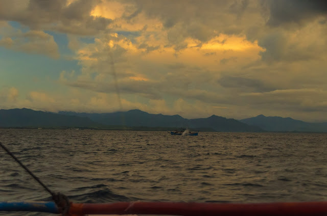 Fishing Boats Sta Ana Cagayan Isolated Sea Rain Coastal Dusk