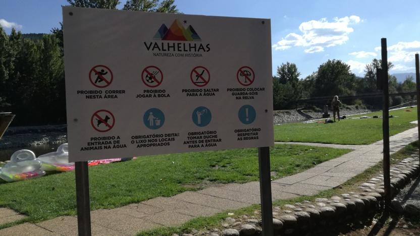 Obrigações e proibições da Praia Fluvial de Valhelhas