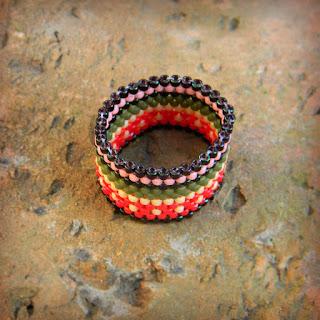 купить украшения из бисера кольцо в этническом стиле россия ру