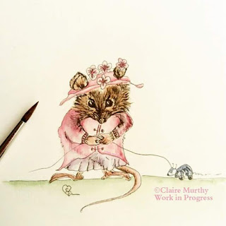 British wildlife watercolour illustration mouse : artist and illustrator : watercolour workshops.