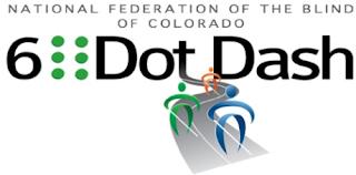 National Federation of the Blind of Colorado 6 Dot Dash 5k logo