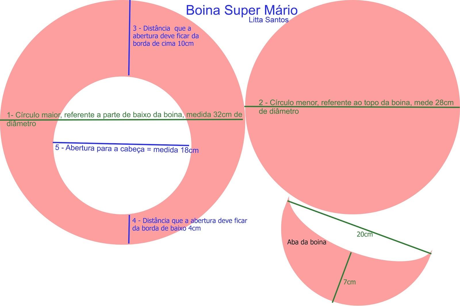 848dc730c4a9b É Artesanato by Litta Santos  Boina Super Mário - Com molde e passo ...