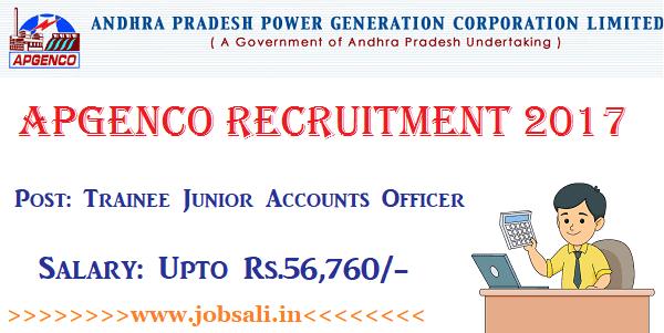 APGENCO Jobs, APGENCO Apply online 2017, Govt jobs in Andhra