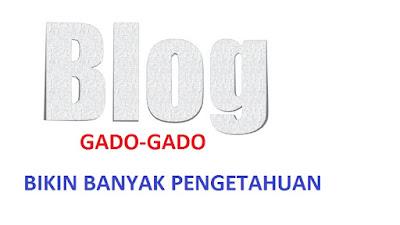 Blog Gado-Gado Bikin Pengunjung Banyak Pengetahuan