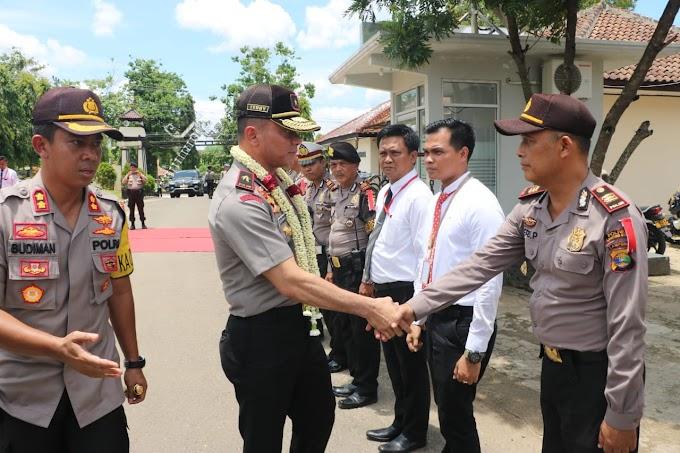 Polres Lampung Utara Di Kunjungi Waka Polda Lampung