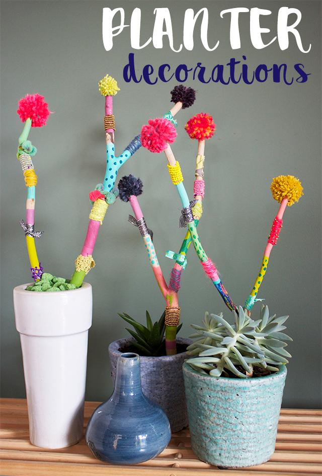 planter stakes, garden art, home decor