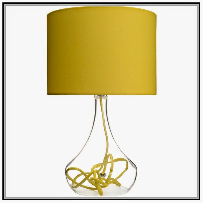 Lamps Image Gallery Yellow Lamp Shades Table