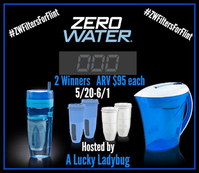 Enter the Zero Water Giveaway. Ends 6/1