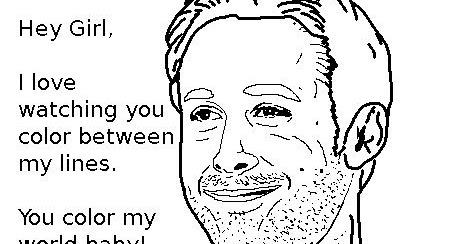 Coloring Page World: Ryan Gosling Meme (Portrait)