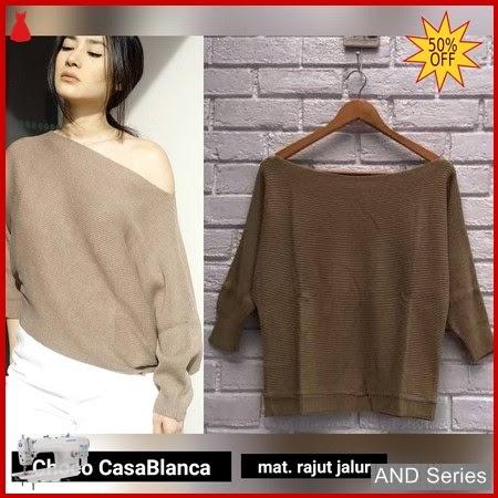 AND263 Baju Atasan Wanita Blouse Choco Casablaca BMGShop