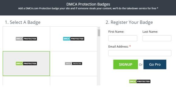 Memasang Budge DMCA