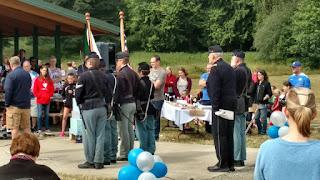 4th US Reenactors at 4th of July Flag Ceremony