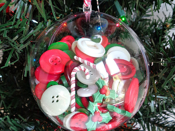 Buttons Galore & More: Make DIY Button Filled Christmas Ornaments with the Kids!