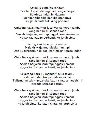 Lirik Lagu The Nelwans Marmut Merah Jambut (Ost Marmut Merah Jambu)