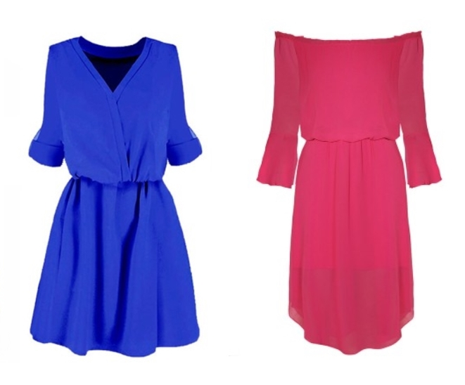 sukienki wiosna 2019  mocny kolor fuksja chaber