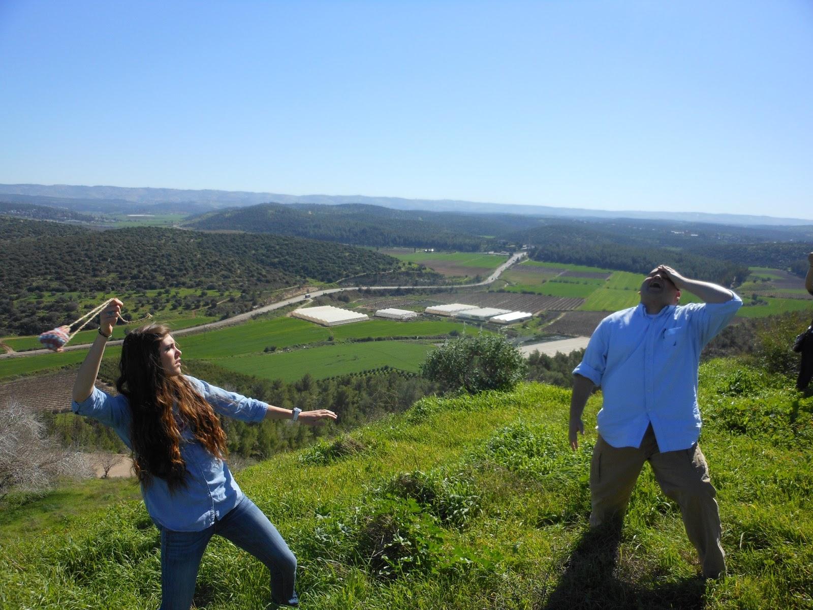 The Rock At Beth Shemesh: Today's Silver Linings : Shephelah- David And Goliath