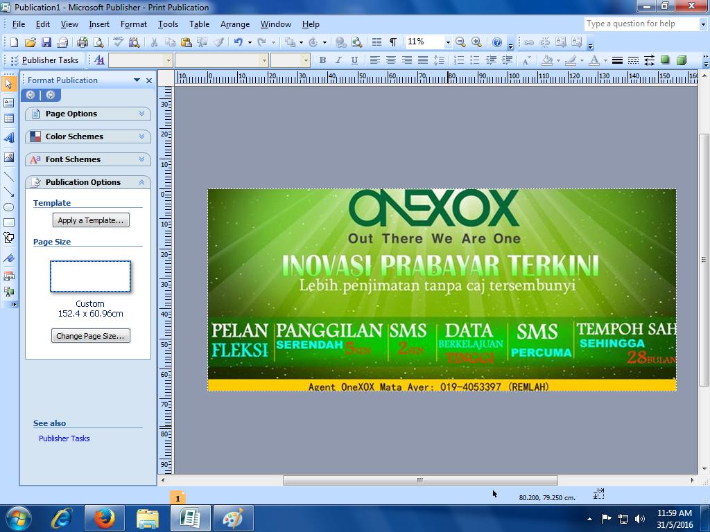 Blog Gadis Kampung Step By Step Design Banner Guna Publisher